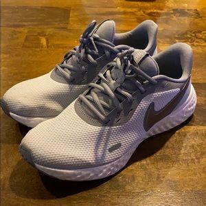 Nike Running Shoes, Gray + Light Blue